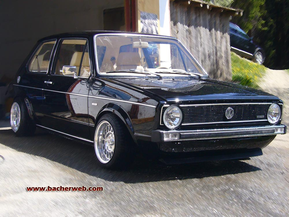 vw golf 1 gti tuning 1er golf tuning styling. Black Bedroom Furniture Sets. Home Design Ideas